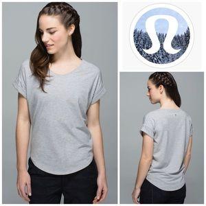 Lululemon Weekend Short Sleeve in Medium Grey